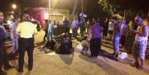 Otomobil ile sepetli motosiklet çarpıştı: 4 yaralı