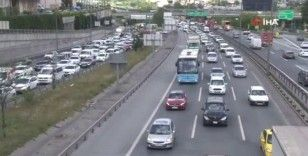 Mahmutbey gişelerde araç trafiği