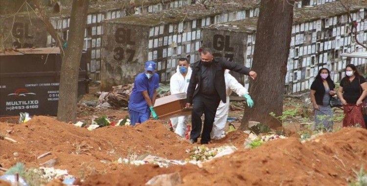 Brezilya'da Kovid-19 nedeniyle son 24 saatte 1001 kişi hayatını kaybetti