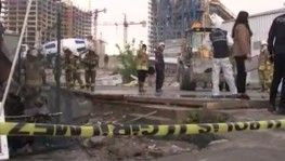 Finans Merkezi şantiyesinde çıkan yangında 1 işçi hayatını kaybetti