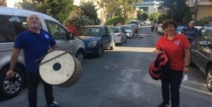 Bayramın ilk günü Maltepe sokakları tulum ve davul sesiyle şenlendi