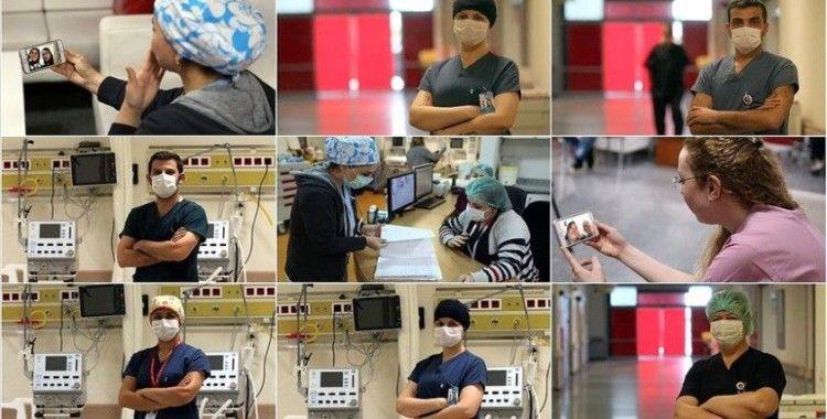 Sağlık çalışanları aileleri ile sanal ortamda bayramlaştı