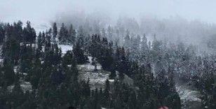 Adana'ya bayram sabahı kar sürprizi