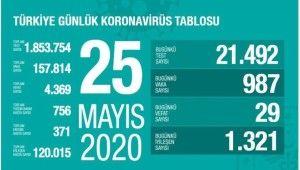 Sağlık Bakanlığı, 'Son 24 saatte korona virüsten 29 can kaybı, 987 yeni vaka'