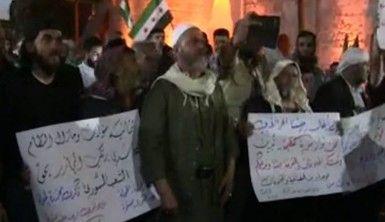 El Bab'da sivillerden rejim ve terör örgütleri karşıtı protesto