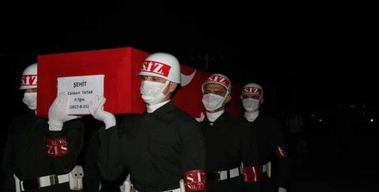 İdlib şehidi Teğmen Tatar'ın naaşı Elazığ'a getirildi