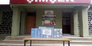 Sınırda bin paket kaçak sigara ele geçirildi