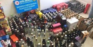 Gümrük Muhafaza ekipleri İskenderun'da 668 litre sahte içki ele geçirdi