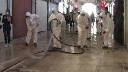 Tarihi Kapalı Çarşı 1 Haziran'daki açılışı öncesi dezenfekte ediliyor