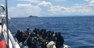 Çanakkale açıklarında 85 düzensiz göçmen kurtarıldı