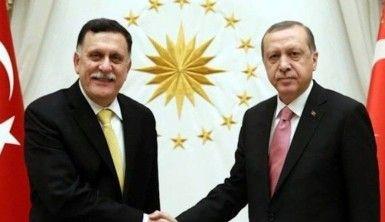 Cumhurbaşkanı Erdoğan ve Libya Başbakanı Sarrac'tan ortak basın toplantısı