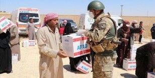 Barış Pınarı Harekatı bölgesinde gıda yardımı yapıldı