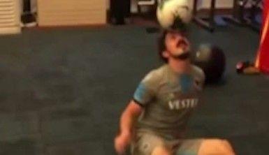 Trabzonspor'un Messi'si Abdulkadir Ömür, futbol topuyla dans etti