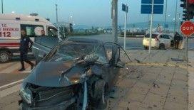 Sivas'ta ciple otomobil çarpıştı: 4 yaralı