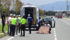 Karşıdan karşıya geçerken otomobil çarptı: 1 ölü