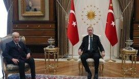 Erdoğan- Bahçeli görüşmesi 50 dakika sürdü