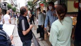 Maske denetiminde polis ile vatandaşlar arasında ilginç diyaloglar