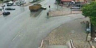 Konya'da anne ve kızının öldüğü kaza kamerada