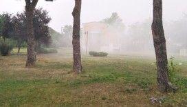 Meteoroloji 1. Bölge Müdürlüğü'ne yıldırım düştü