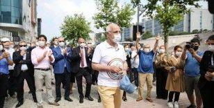 İstanbul Barosu Başkanı Durakoğlu, Ankara yürüyüşüne başladı