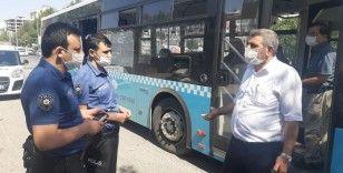 Otobüse maskesiz alınmayınca tehditler savurdu