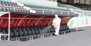 Denizlispor, Beşiktaş karşılaşması öncesi stadyum dezenfekte edildi
