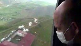 Bakan Soylu deprem bölgesini havadan inceledi