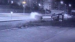 4 gencin yaralandığı kaza kamerada