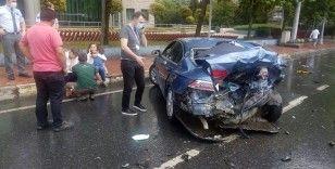 Şişli'deki kazada küçük çocuk şoka girdi