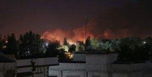 Suriye'de terör örgütü PKK/YPG'ye ait silah deposunda patlama
