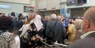 Kayseri havaalanında 'hasta' eden görüntü