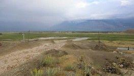 Erzincan'da sel anı kameralara yansıdı
