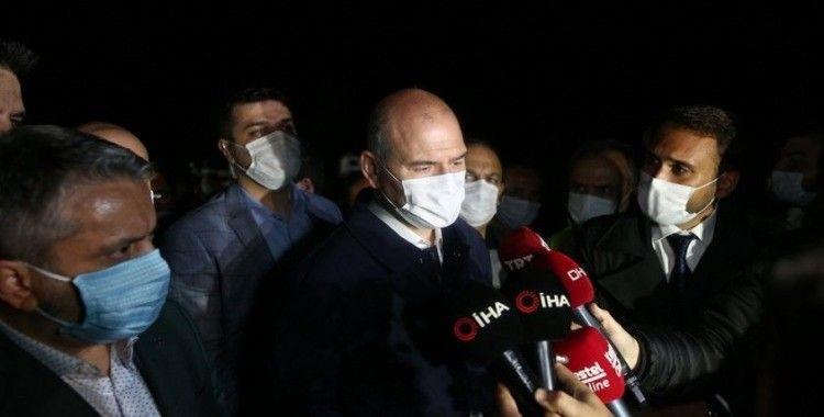 İçişleri Bakanı Soylu Bursa'da yaşanan sel felaketi bölgesinde