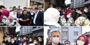 Aile Bakanı ve İstanbul Valisi selden etkilenen vatandaşları ziyaret etti