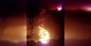 Yemen'de yakıt deposunda çıkan yangın evlere sıçradı
