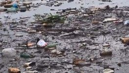 Sel suları sürükledi, İznik Gölü çöplüğe döndü