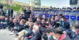 Baro başkanlarının Ankara'ya girişine izin verildi