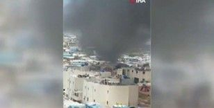İdlib'de mülteci kampında yangın