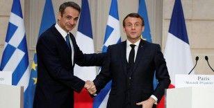 Yunanistan Başbakanı Miçotakis ile Fransa Cumhurbaşkanı Macron Türkiye'yi görüştü