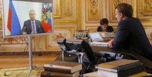 Putin ve Macron, Libya'da 'hem fikir' olduklarını belirtti