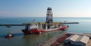 Türkiye'nin ilk yerli sondaj gemisi 'Fatih' Trabzon Limanı'ndan ayrıldı