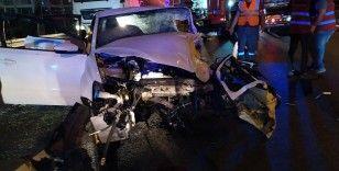 Küçükçemece Basın Ekspres'te feci kaza: 1 ölü, 2 yaralı