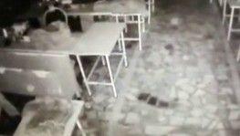 Bahçelievler'de yaşanan patlama anı kamerada