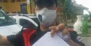 Polis ile vatandaşın canlı yayında 14 dakikalık maske tartışması