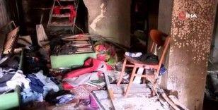 Patlamanın yaşandığı apartmanın içi görüntülendi