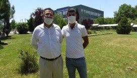 Bursa'da 6 çocuk babası oğlu ile sınava girdi