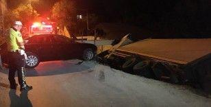 Sarıyer'de kamyon şarampole uçtu: 2 yaralı
