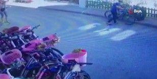 Büyükada'da lüks bisiklet hırsızlığı kamerada