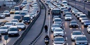 Trafiğe kayıtlı toplam taşıt sayısı mayıs ayı sonu itibarıyla 23 milyon 448 bin 381 oldu