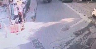 İstanbul'da ilginç kaza kamerada